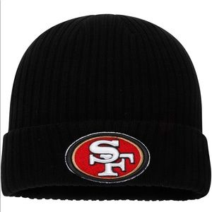 NFL Accessories - 49ers NFL Black Knit Beanie Hat